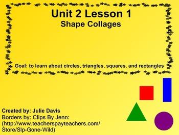Everyday Math Kindergarten 2.1 Shape Collages