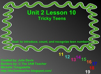 Everyday Math Kindergarten 2.10 Tricky Teens