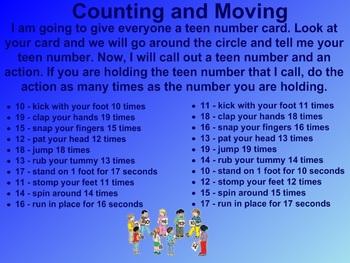 Everyday Math Kindergarten 2.11 Listen and Do (10-19)