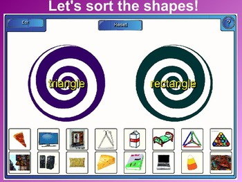 Everyday Math Kindergarten 2.2 Shapes by Feel