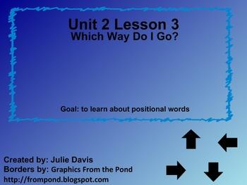 Everyday Math Kindergarten 2.3 Which Way Do I Go?