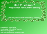 Everyday Math Kindergarten 2.7 Preparation for Number Writing