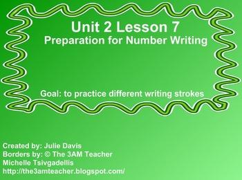 Everyday Math Kindergarten 2.7 Preparation for Number Writing
