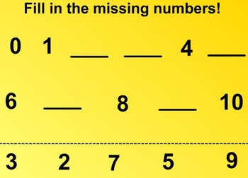 Everyday Math Kindergarten 2.9 Number Board