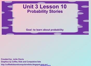 Everyday Math Kindergarten 3.10 Probability Stories