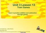 Everyday Math Kindergarten 3.13 Train Games