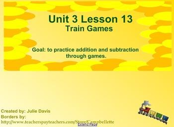 math worksheet : everyday math kindergarten 3 13 train games  tpt : Everyday Math Kindergarten Games