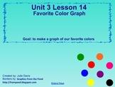 Everyday Math Kindergarten 3.14 Favorite Colors Graph