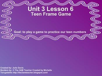 Everyday Math Kindergarten 3.16 Teen Frame Game