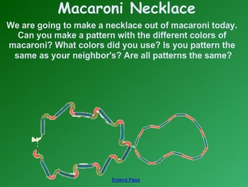 Everyday Math Kindergarten 3.2 Macaroni Necklaces SmartBoard Activity