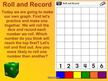 Everyday Math Kindergarten 3.3 Roll and Record SmartBoard Activity