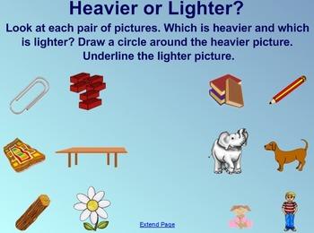 Everyday Math Kindergarten 3.4 The Pan Balance SmartBoard Activity
