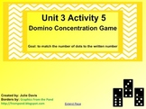 Everyday Math Kindergarten 3.5 Domino Concentration Game SmartBoard Activity