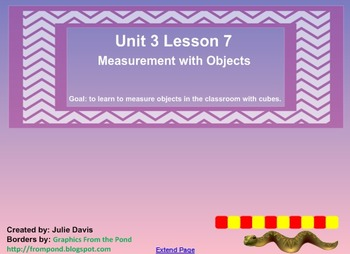 Everyday Math Kindergarten 3.7 Measurement with Objects