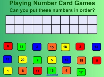 Everyday Math Kindergarten 3.9 Number Card Game