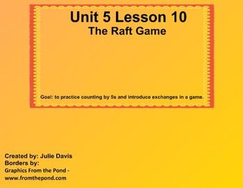 math worksheet : everyday math kindergarten 5 10 the raft game exchange game  tpt : Everyday Math Kindergarten Games