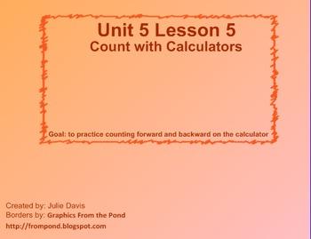 Everyday Math Kindergarten 5.5 Count with Calculators