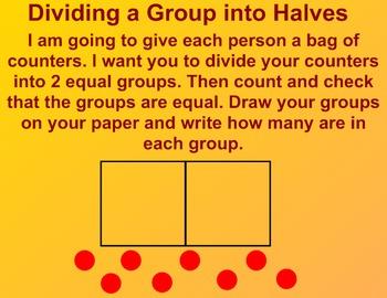Everyday Math Kindergarten 6.11 Divide Groups in Half
