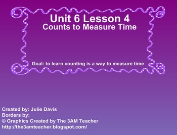 Everyday Math Kindergarten 6.4 Counts to Measure Time
