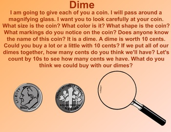 Everyday Math Kindergarten 6.7 Introduction of the Dime