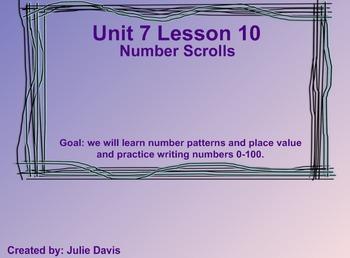 Everyday Math Kindergarten 7.10 Number Scrolls