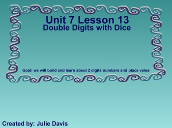 Everyday Math Kindergarten 7.13 Double Digits with Dice