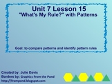 "Everyday Math Kindergarten 7.15 ""What's My Rule?"" with Patterns"