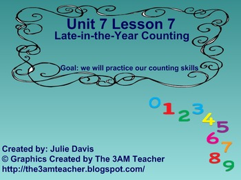 Everyday Math Kindergarten 7.7 Late in the Year Counting