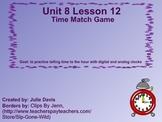 Everyday Math Kindergarten 8.12 Time Match Game