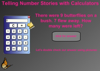 Everyday Math Kindergarten 8.14 Number Stories with Calculators