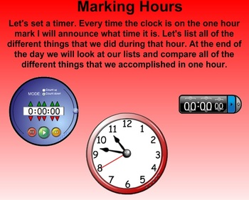 Everyday Math Kindergarten 8.2 How Long Is an Hour?