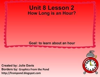 Everyday Math Kindergarten 8.2 How Long Is an Hour?