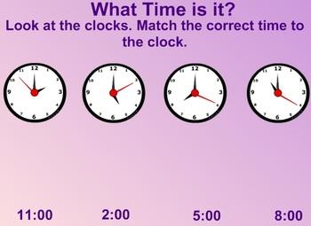 Everyday Math Kindergarten 8.3 The Hour Hand Clock