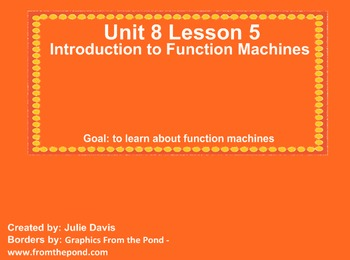 Everyday Math Kindergarten 8.5 Introduction to Function Machines
