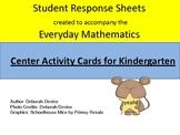 Everyday Math Kindergarten Center Card Response Sheets