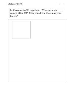 Everyday Math Kindergarten Unit 2 Review Journal