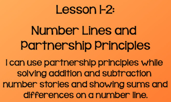 Everyday Math Lesson 1-2: Number Lines and Partnership Principles