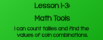 Everyday Math Lesson 1-3: Math Tools