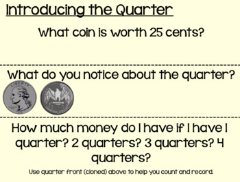 Everyday Math Lesson 1-8: My Reference Book, Quarters, and Math Boxes