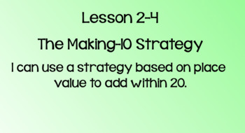 Everyday Math Lesson 2-4: The Making 10 Strategy