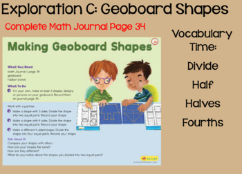 Everyday Math Lesson 2-8: Exploration (Odd, Even, Addition, Shapes)