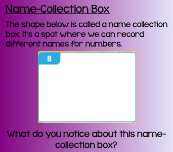 Everyday Math Lesson 2-10: Name-Collection Boxes