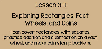 Everyday Math Lesson 3-11: Exploring Rectangles, Fact Wheels, and Coins