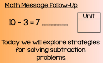 Everyday Math Lesson 3-2: Subtraction from Addition- Think Addition