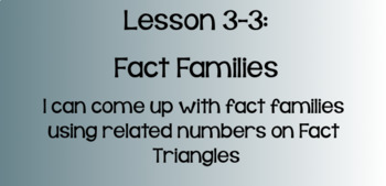 Everyday Math Lesson 3-3: Fact Strategies