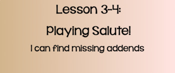 Everyday Math Lesson 3-4: Playing Salute!