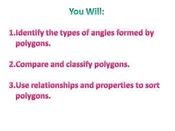 Everyday Math Grade 5 Lesson 3.7 - Properties of Polygons