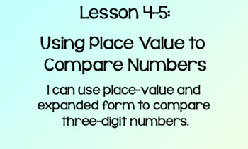 Everyday Math Lesson 4-5: Using Place Value to Compare Numbers