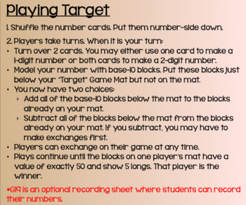 "Everyday Math Lesson 4-7: Playing ""Target"""