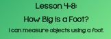 Everyday Math Lesson 4-8: How Big is a Foot?
